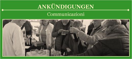 Ankündigungen der Deutsch-Italienischen Gesellschaft Mittelhessen e. V.