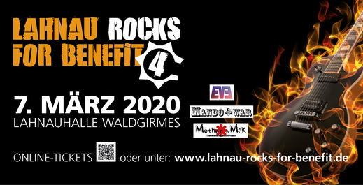 Eventbanner Lahnau rocks for Benefit (3,40 x 1,75 m)