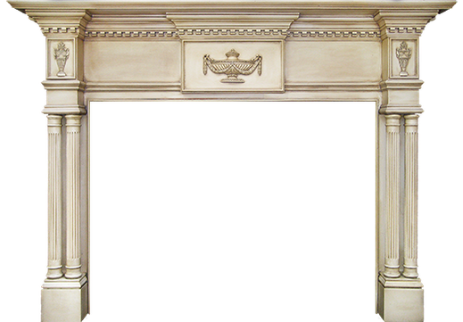 The Custom Tribune Fireplace Mantle
