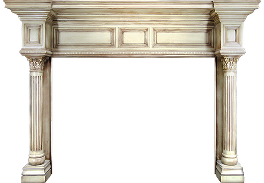The Custom Drake Fireplace Mantel