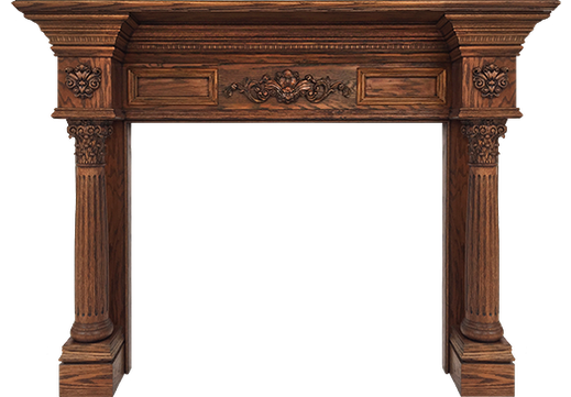 The Custom LaSalle Fireplace Mantel