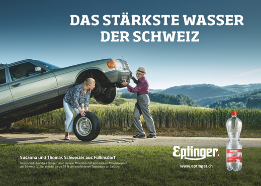 Eptinger Mineralwasser Werbung Auto (2017)