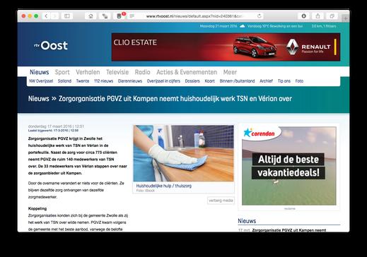 Website RTV Oost