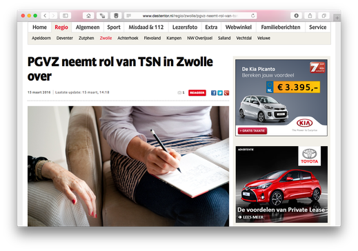 screenshot Website De Stentor