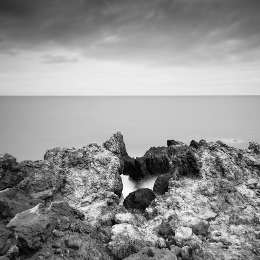 La Bonacita, Rock, fineart, dekorativ, wallart, El Hierro, Canary Islands, Kanarische Inseln, Kanaren, Holger Nimtz, seascape, fine art, monochrom, schwarz-weiß, Langzeitbelichtung, longexposure,