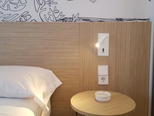 Mobiliario para habitaciones de hotel, habitación de hotel fabricado en melamina