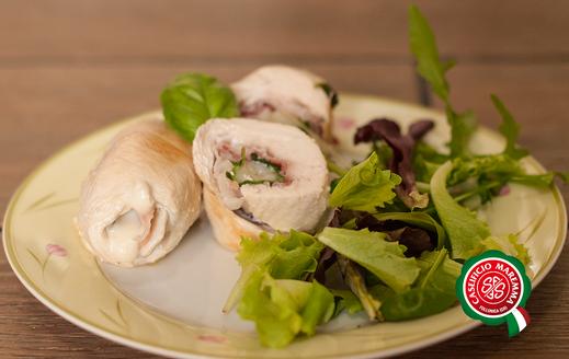saltimbocca di pollo con caprino toscano maremma italia e prosciutto crudo ricetta leggera estiva primavera