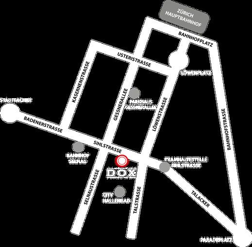 Lageplan Barschule Zürich