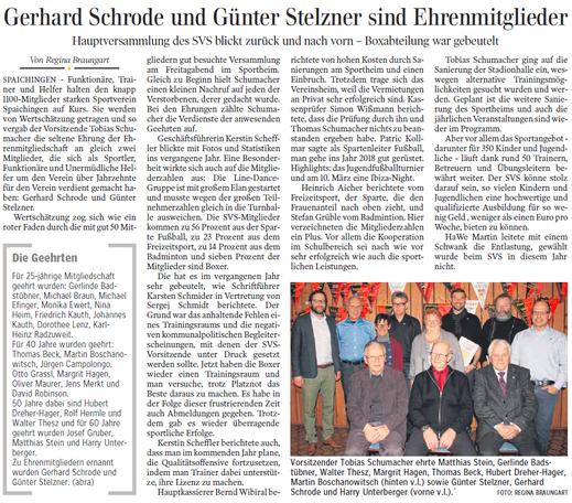 Schwäbische Zeitung, 26.02.2018