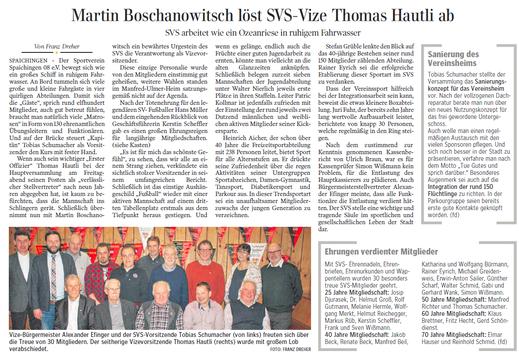 Schwäbische Zeitung, 25.01.2016