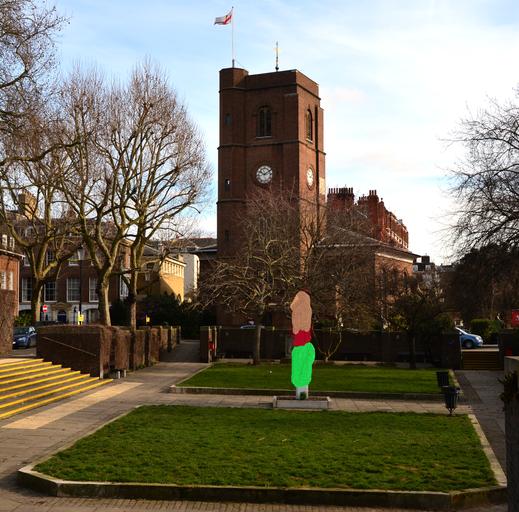 Chelsea Old Church - Bild wurde fototechnisch bearbeitet