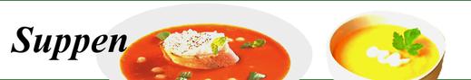 Suppen - Cremesuppe, kalte Suppe, Kartoffelsuppe, Tomatensuppe, Soljanka, ...