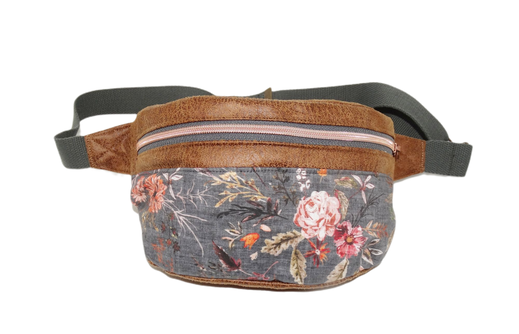 sacoche ceinture sac banane femme chic romantique original gris shabby chic romantique sangle réglable