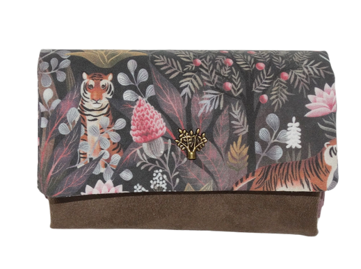 portefeuille compact femme animaux tigre oiseaux renard enfant fille garçon porte-cartes original fonctionnel cadeau pour elle maman