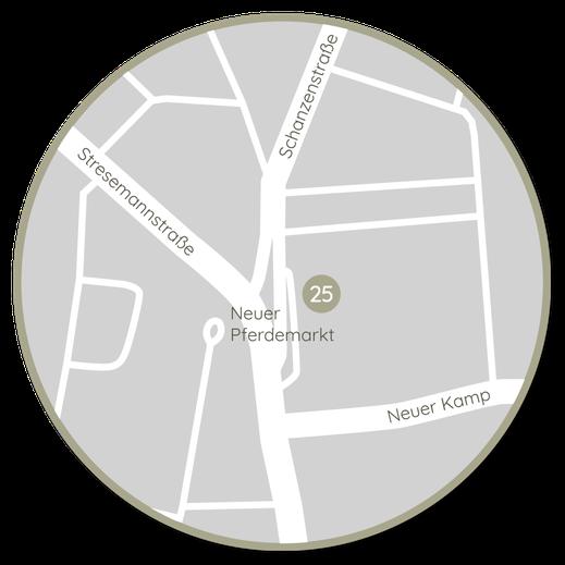 Praxisadresse Traute Bickel Psychotherapie und Körpertherapie, Neuer Pferdemarkt 25, 20359 Hamburg