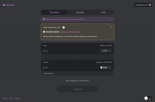 Uniswap Interface