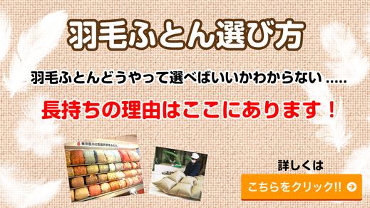 羽毛布団選び方浦和東京西川チェーン加納屋
