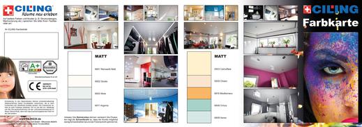 Bild CILING-Farbkarte matte Deckenfarben