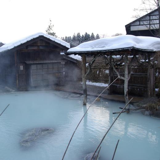 Sources chaude Tsurunoyu en hiver