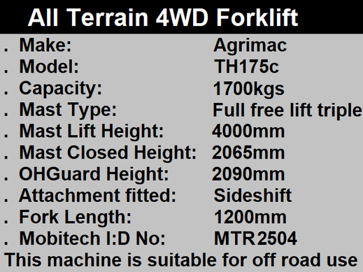 4wd Forklift hire in Kent