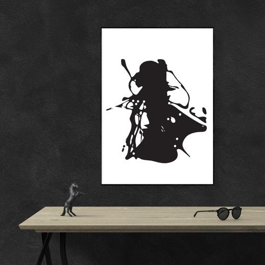 Illustration - schwarz-weiß - Abstrakte Kunst