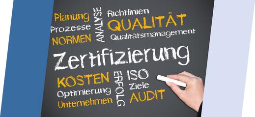 Beratung zum QM-Aufbau, -Einführung, -Zertifizierung