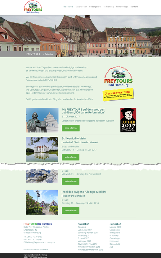 Exkursionen, Studienreisen, Kulturreisen ... | https://www.freytours-badhomburg.de