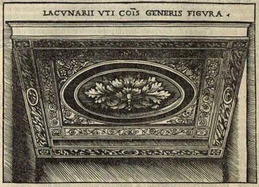 Fig. 3 - Rappresentazione Lacunarii, trattata da Cesare Cesariano De architectura 1521 volume a stampa, Milano..