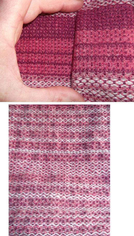 Rosettenköper : man erkennt wie eine ungünstige Farbwahl oder Abfolge das Muster entstellen kann