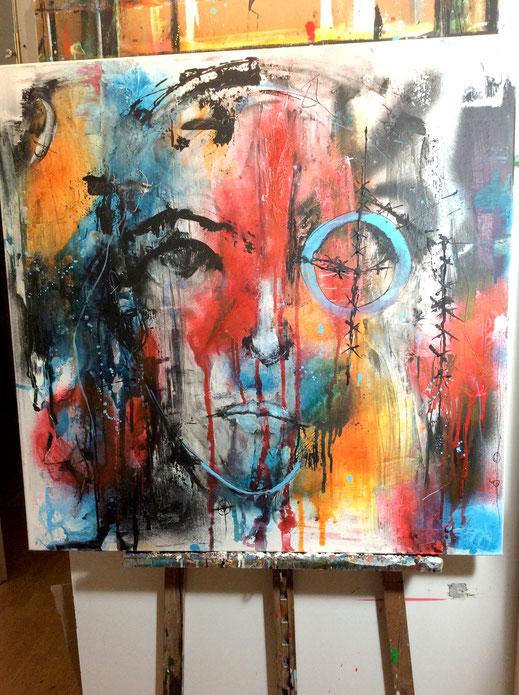 Bild und Skulptur  von Ilona Schmidt/Plastik aus Ton