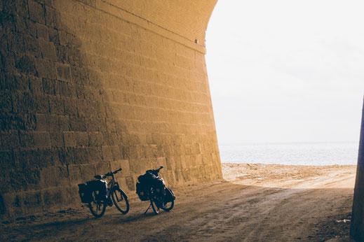 Radreise, Spanien, Frankreich, Meer