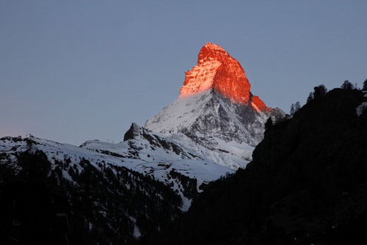 Sunrise, alps, mountainglow, Matterhorn