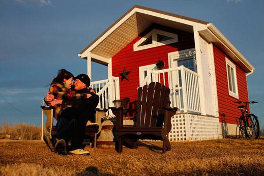 Cabin in Kanada, Holzhütte, Tiny House Kanada