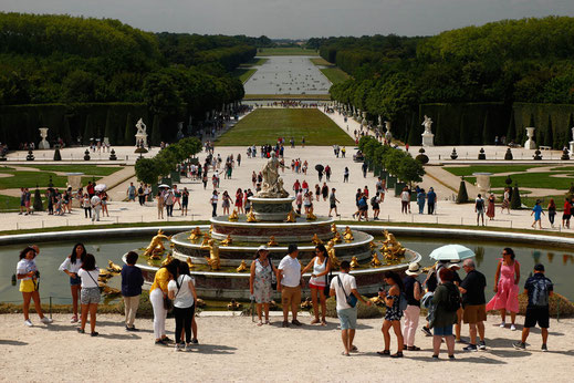 The free gardens of the Palace of Versailles