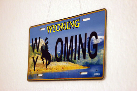 Wyoming sign, USA