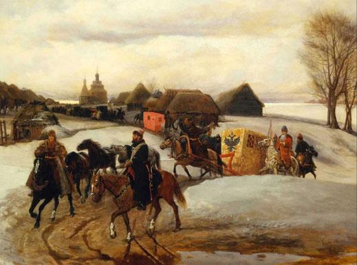 Шварц В.Г.  Вешний поезд царицы на богомолье при царе Алексее Михайловиче
