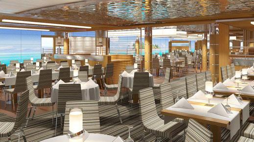Yachtclub Restaurant auf AIDAcosma