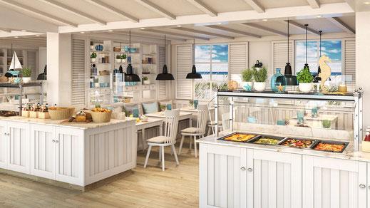 Beach House Restaurant auf AIDAcosma