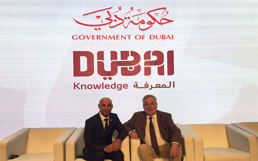 Picture of Prof. Dr. Ernst Poeppel and Dr Abdulla AlKaram, the Director General of KHDA
