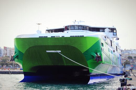 Santorini Fast Ferry, Schelles Boot Santorin, Superfast ferry santorini, Schnellboot santorini