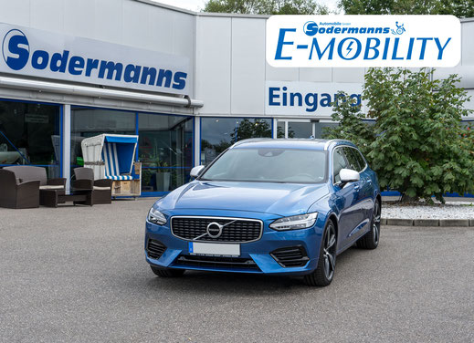 behindertengerechter Volvo V90 Plug-in Hybrid Selbstfahrerumbau, MFD, Handgerät, Ladeboy S2 Maximum, Sodermanns