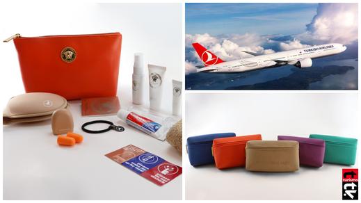 Versace y Mandarina Duck son las marcas elegidas por Turkish Airlines para sus nuevos kits de viaje