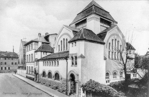 Die Orthodoxe Wickopsche Jugendstilsynagoge von 1906 in der Bleichstr.: Von ihr blieb nach dem Novemberpogrom 1938 nichts übrig. Foto: Stadtarchiv