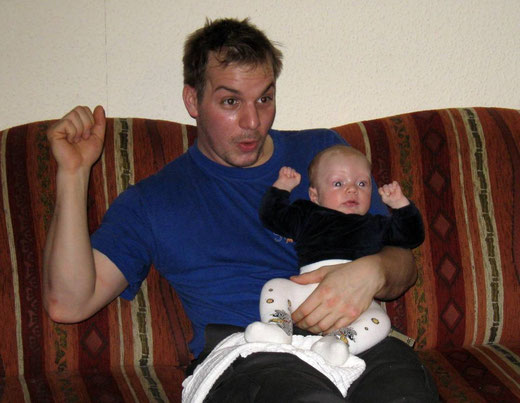 Papa & Sohn im Fußballfieber