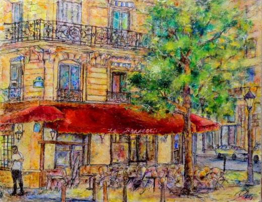 パリのブラッスリー F6 油彩