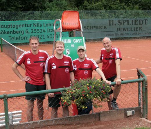 Unsere Herren 30 in der Saison 2014, von links: Nils Lohmann, Johannes Weber, Ralf Maertens und Pitt Voigt