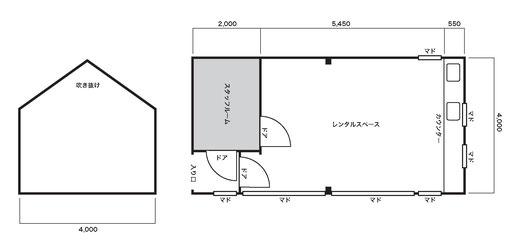 滋賀、湖南市、甲西 レンタルスペース 見取り図