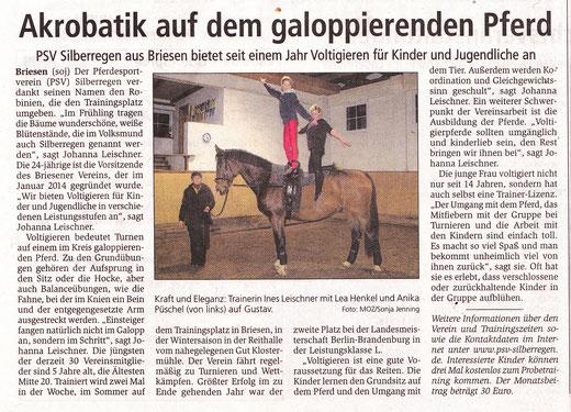 """""""Märkische Oderzeitung"""", Dienstag 23. Dezember 2014"""