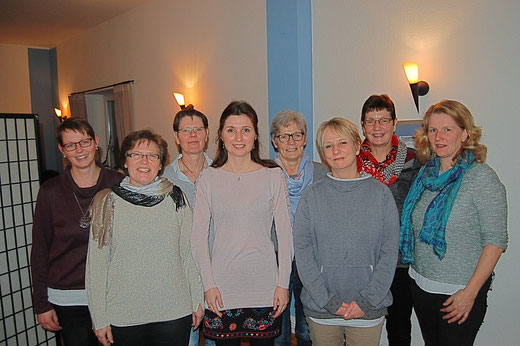Die neu gewählten Vorstandsmitglieder des Landfrauenvereins Ekebergkrug u. U.