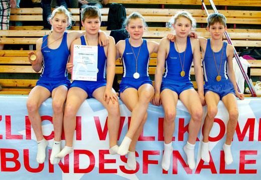 v.l. Glenn Trebing, Florian Eckhardt, Anna-Lisa Wielsch, Lewis Trebing, Maximilian Blum, Foto: Michaela Trebing